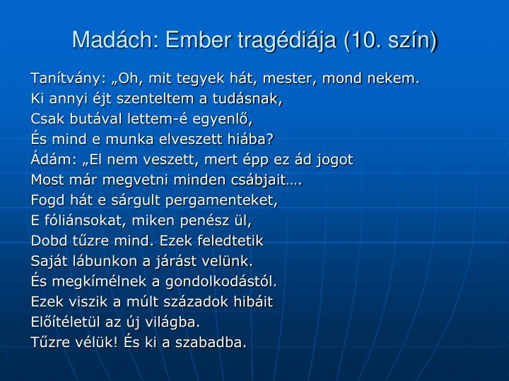 Madách: Ember tragédiája (10. szín)