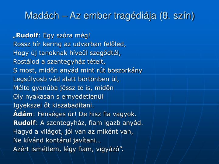 Madách – Az ember tragédiája (8. szín)