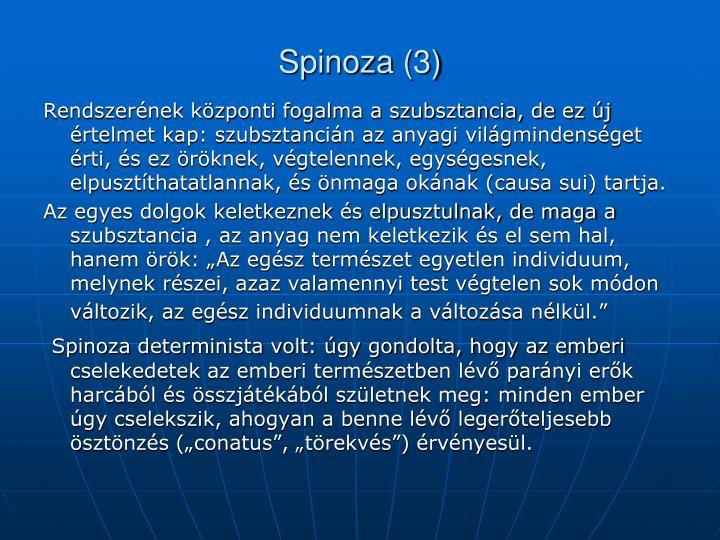 Spinoza (3)