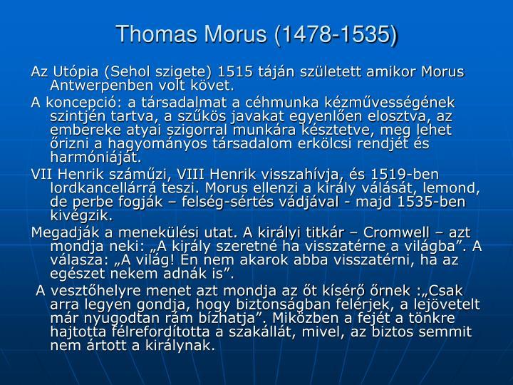 Thomas Morus (1478-1535)