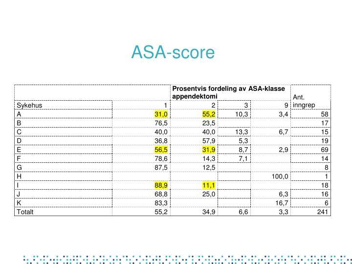 ASA-score