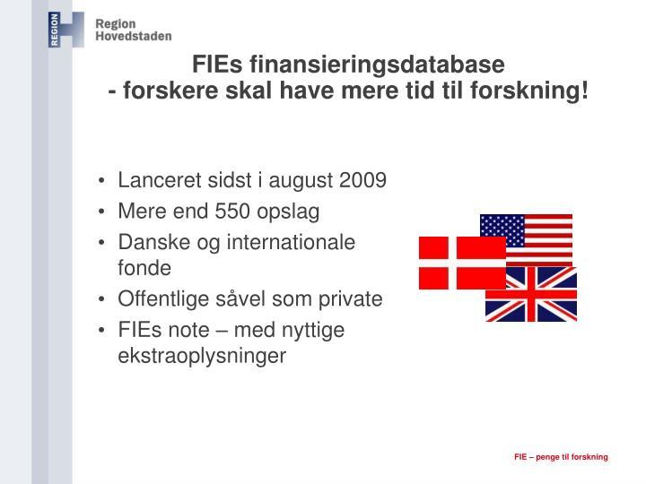FIEs finansieringsdatabase