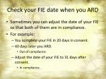 check your fie date when you ard