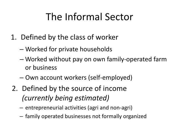 The Informal Sector