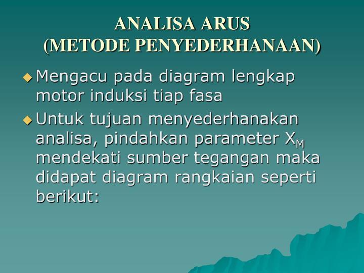 ANALISA ARUS
