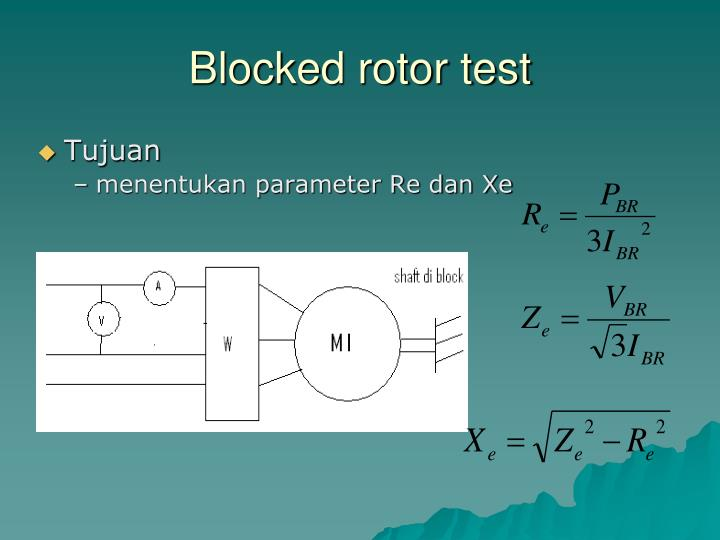 Blocked rotor test