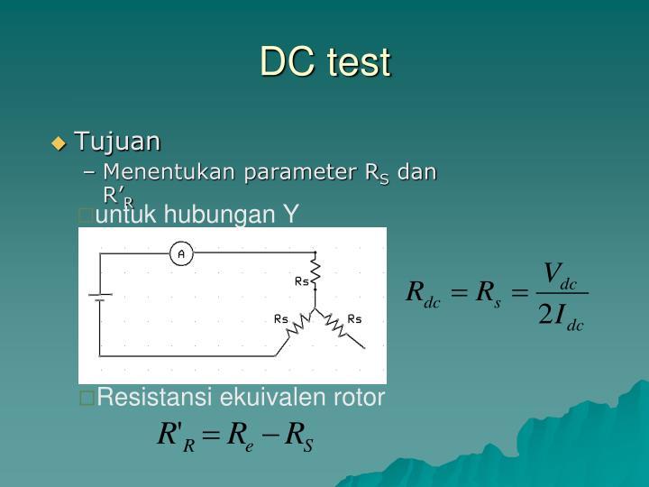 DC test