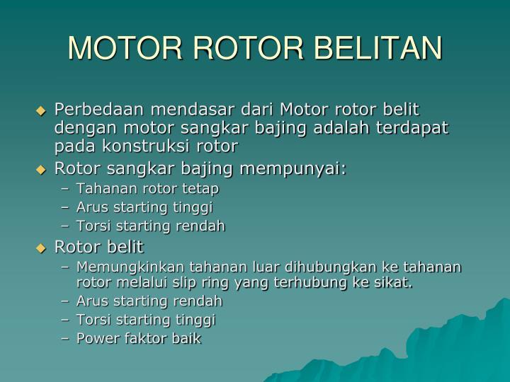 MOTOR ROTOR BELITAN