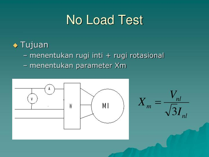 No Load Test