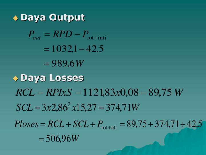 Daya Output