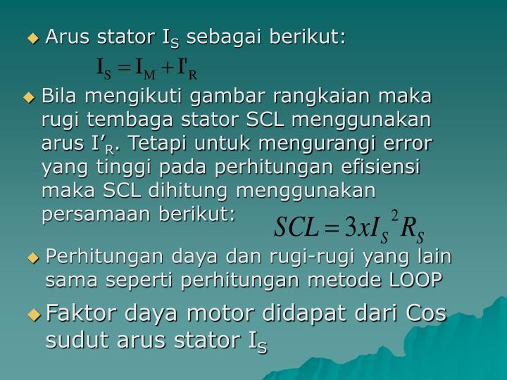 Arus stator I