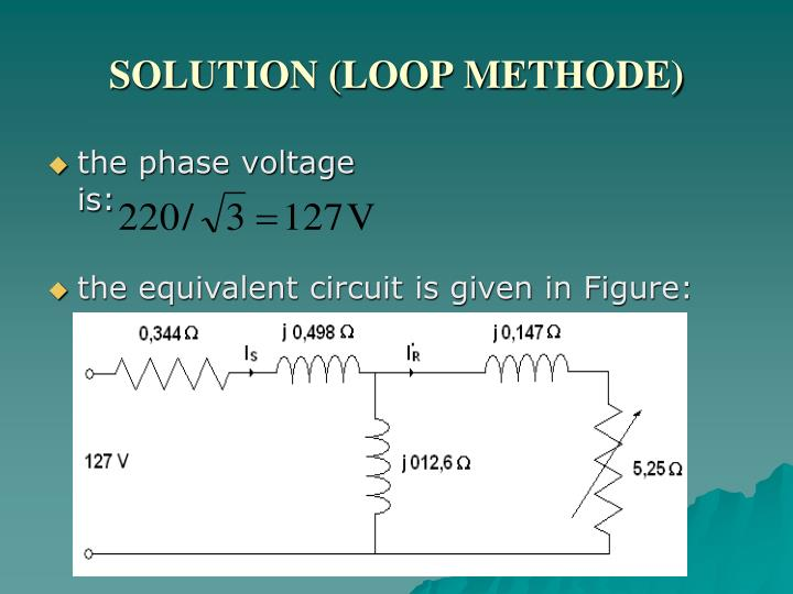 SOLUTION (LOOP METHODE)