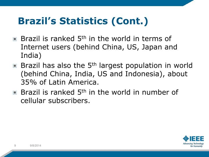Brazil's Statistics (Cont.)