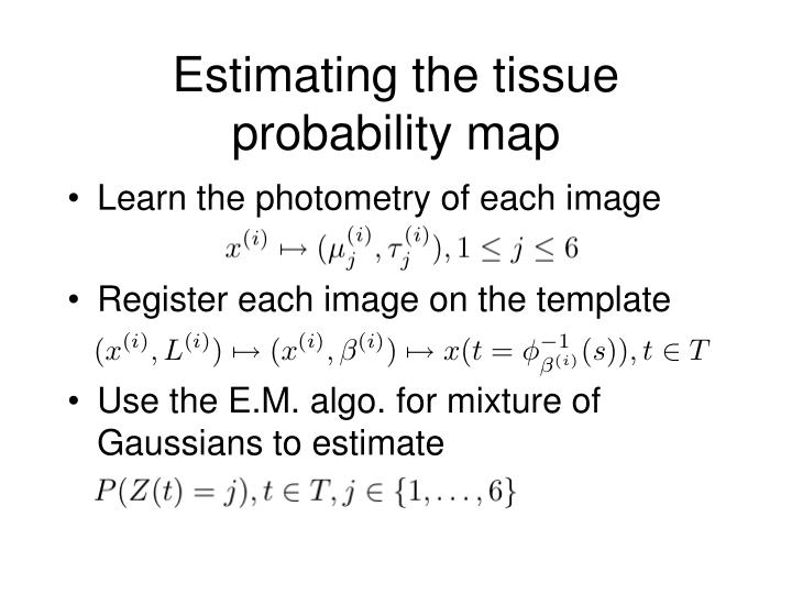 Estimating the tissue probability map