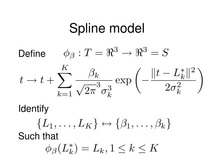 Spline model