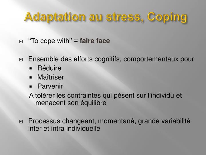 Adaptation au stress,