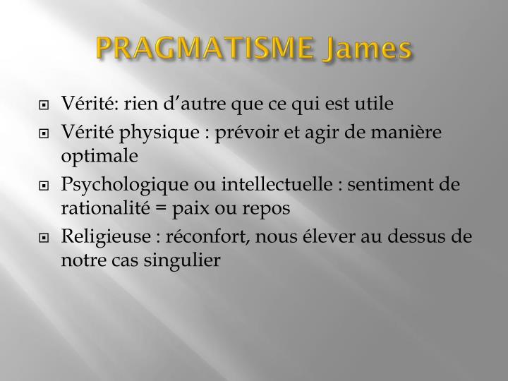PRAGMATISME James