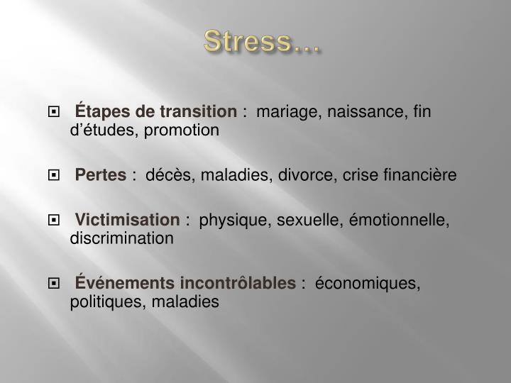 Stress…