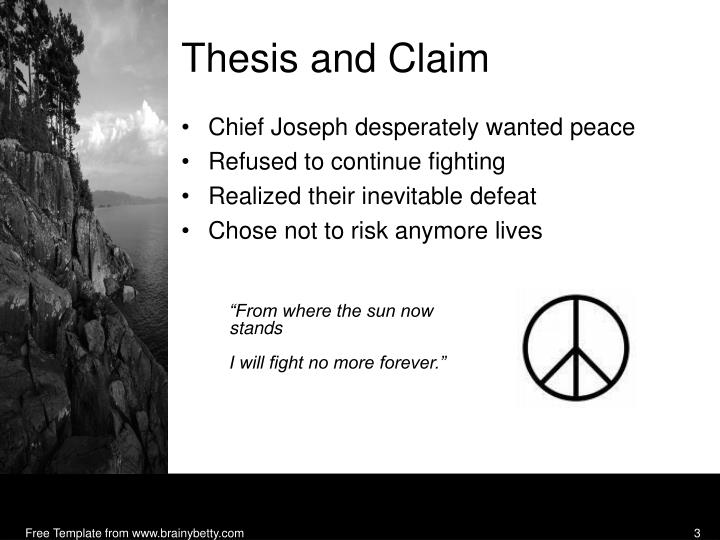 Thesis and Claim