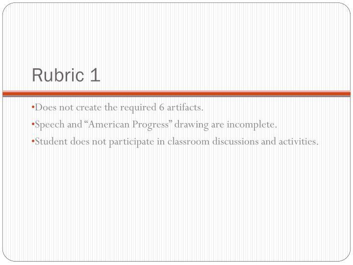 Rubric 1
