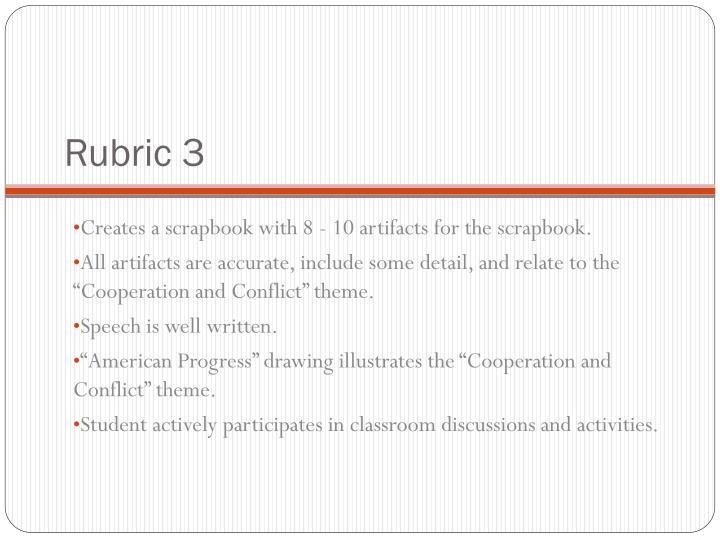 Rubric 3