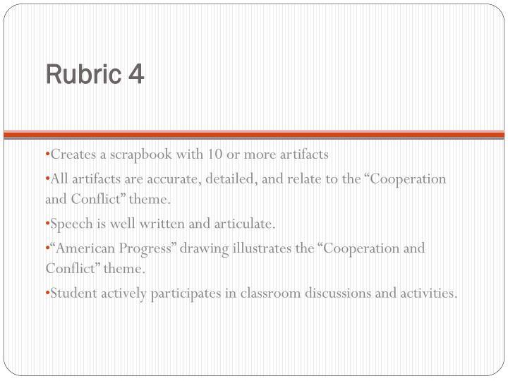 Rubric 4