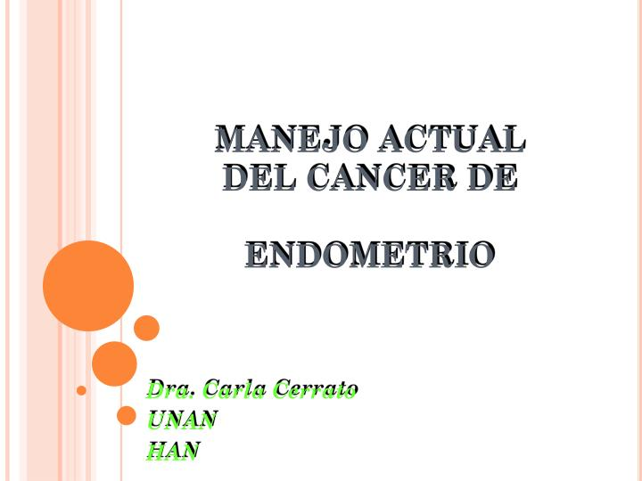 Manejo actual del cancer de endometrio