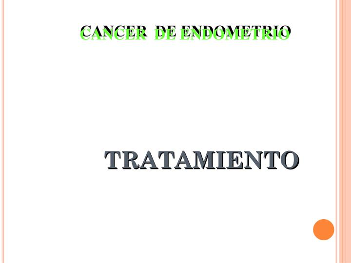 CANCER  DE ENDOMETRIO