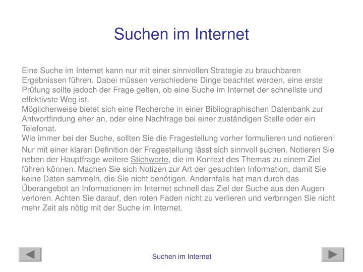 Suchen im Internet