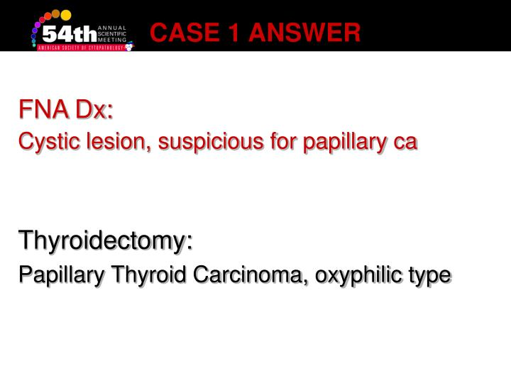 Case 1 answer