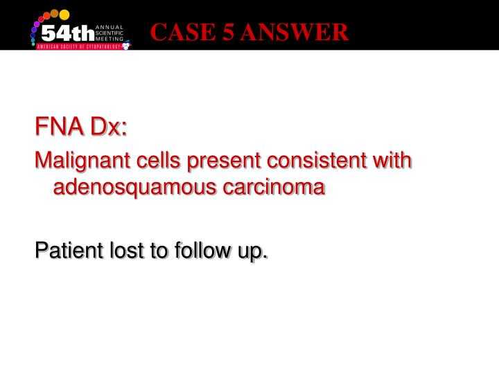 CASE 5 ANSWER