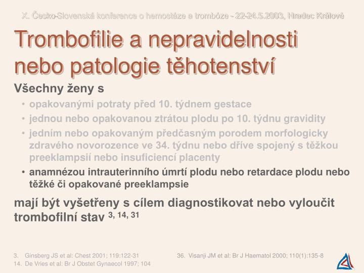 X. Česko-Slovenská konference o hemostáze a trombóze - 22-24.5.2003, Hradec Králové