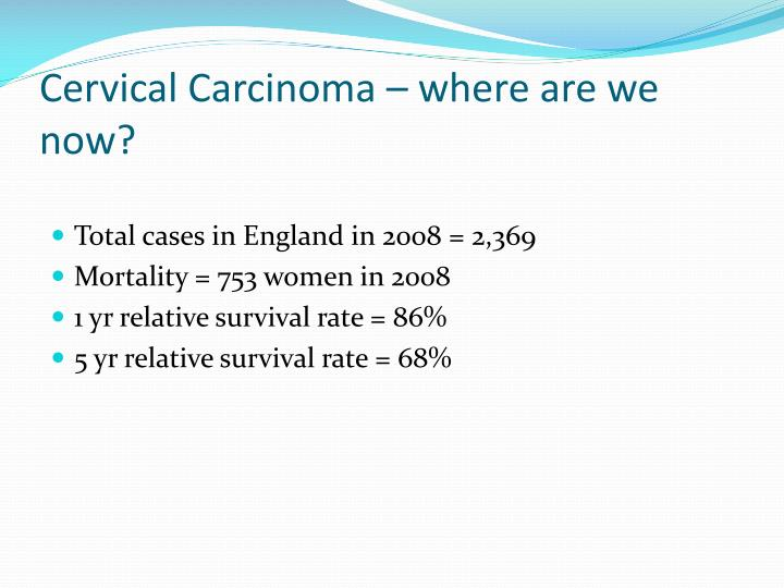 Cervical Carcinoma – where are we now?