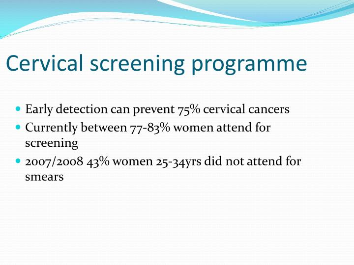 Cervical screening programme