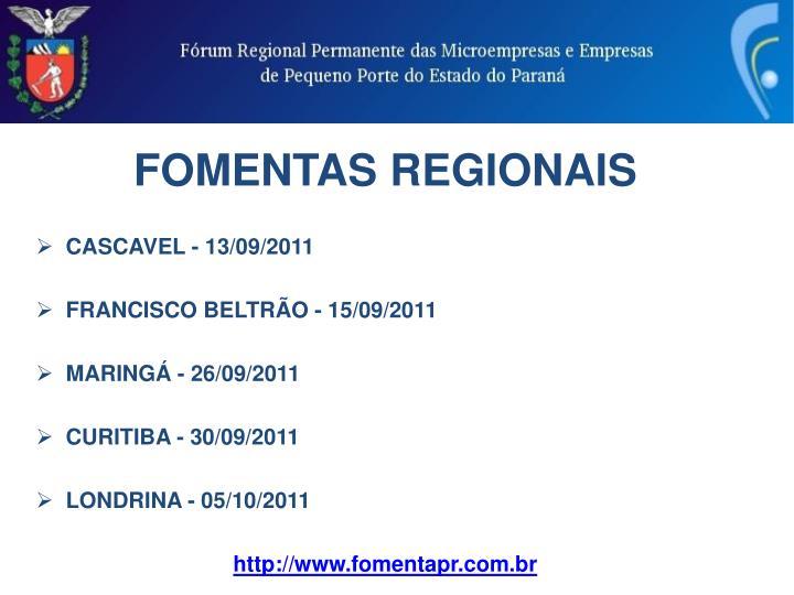 FOMENTAS REGIONAIS