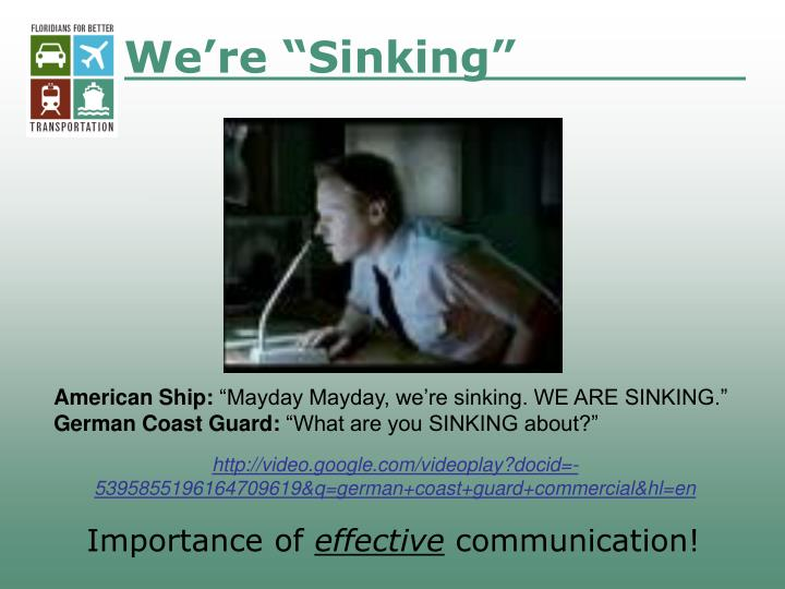 """We're """"Sinking"""""""