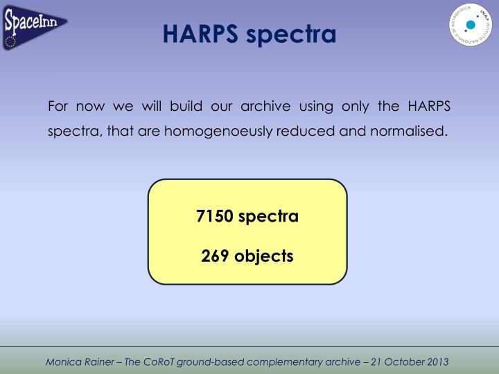 HARPS spectra