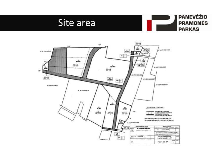 Site area