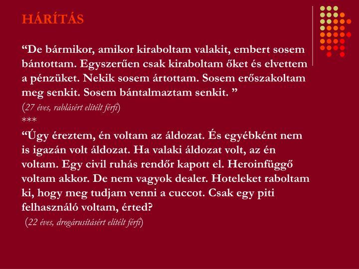 HÁRÍTÁS