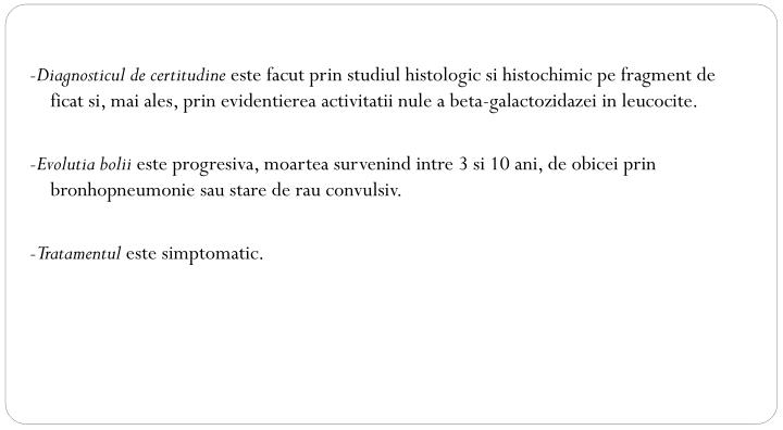 -Diagnosticul de certitudine