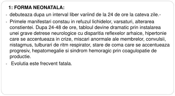 1: FORMA NEONATALA: