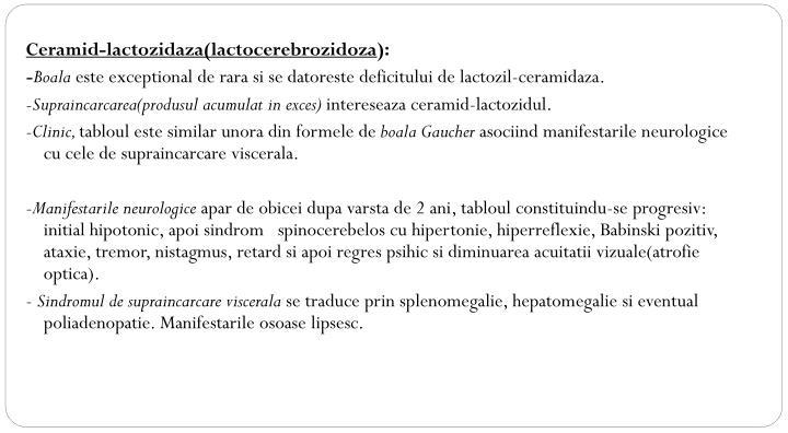 Ceramid-lactozidaza(lactocerebrozidoza