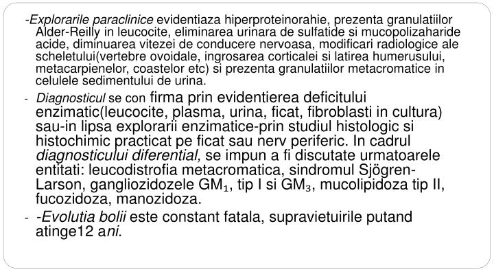 -Explorarile paraclinice