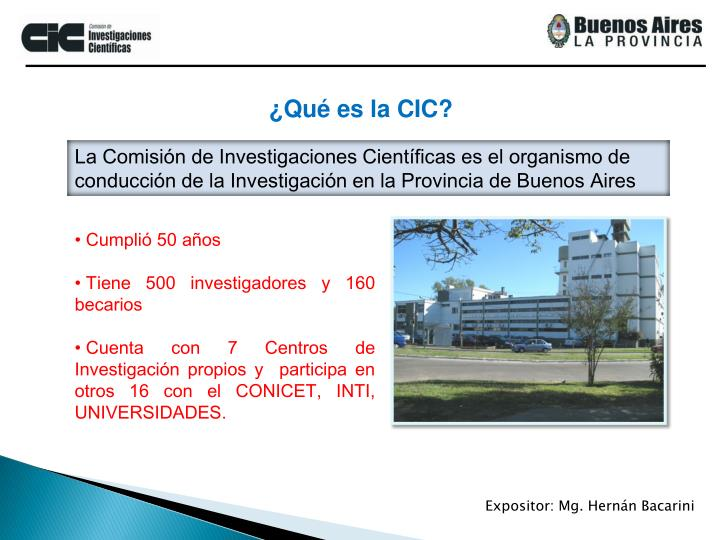 ¿Qué es la CIC?