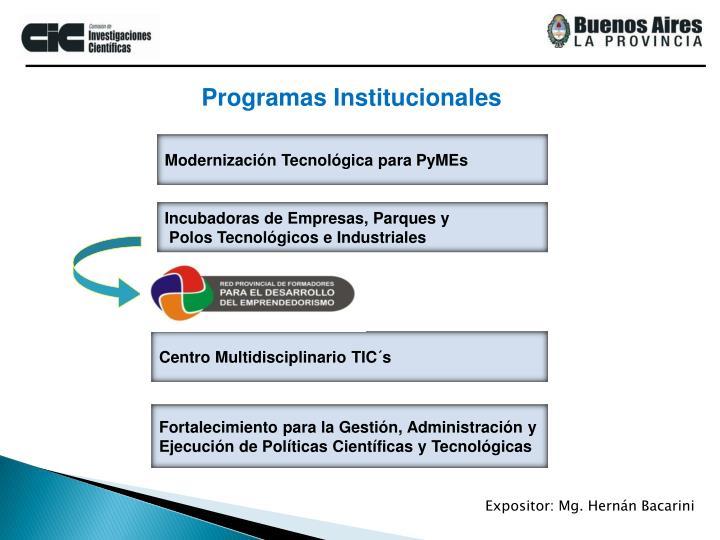 Programas Institucionales