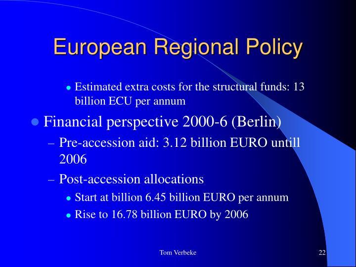 European Regional Policy