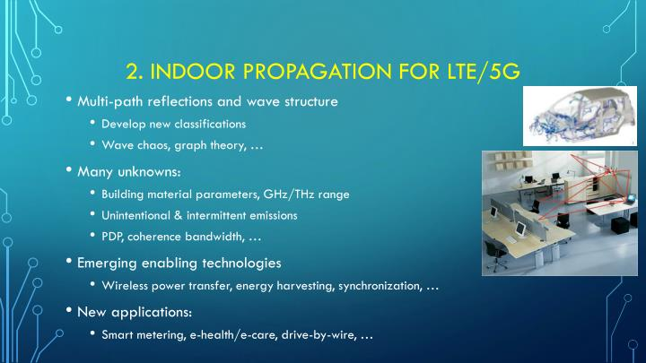 2. Indoor propagation for LTE/5g