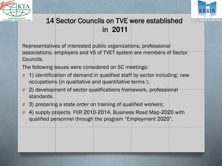 14 Sector Councils on TVE were established