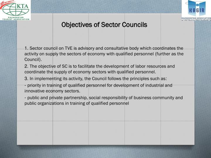 Objectives of Sector Councils