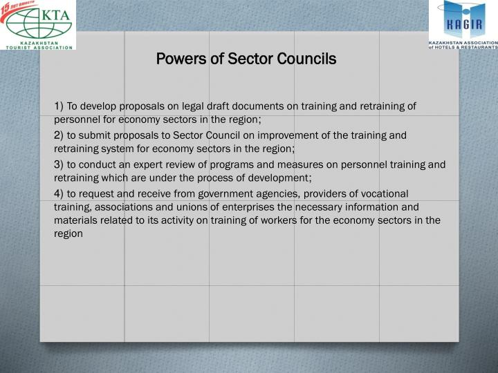 Powers of Sector Councils